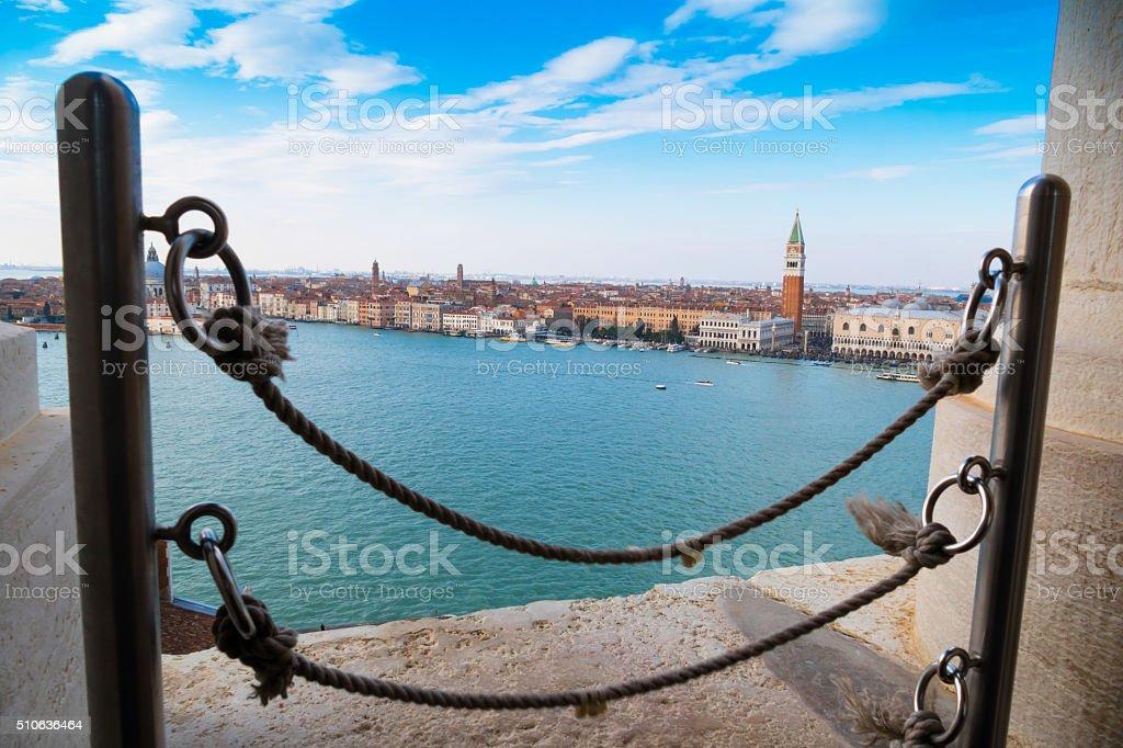 View of San Giorgio church -Venice, Italy stock photo