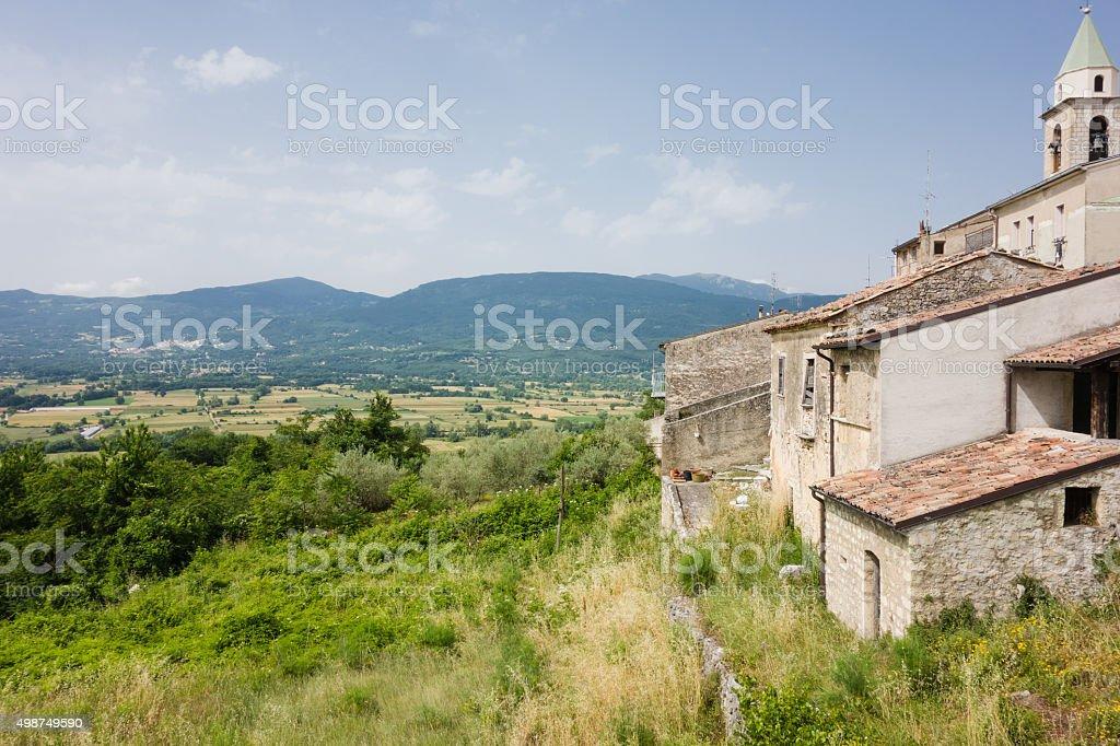 View of San Giuliano del Sannio, Italy stock photo