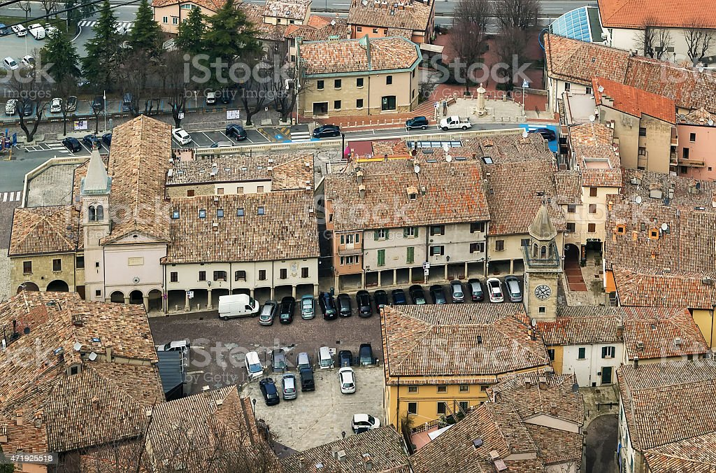 view of San Marino city stock photo