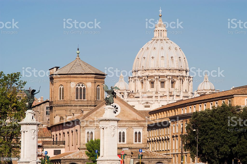 View of San Peter's Cupola in Rome royalty-free stock photo