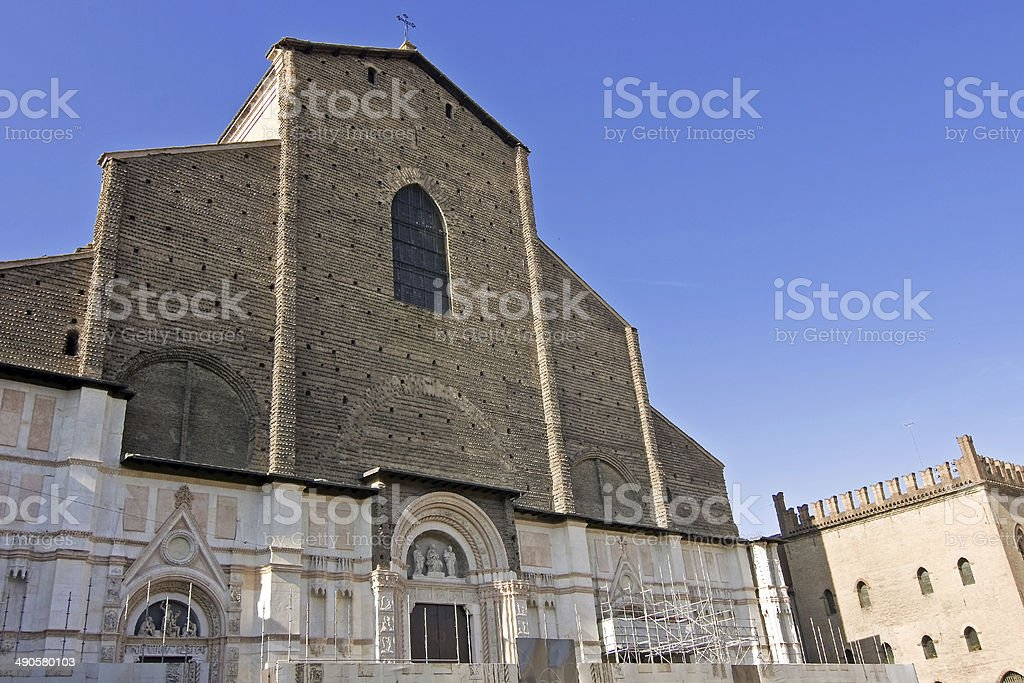 view of san petronio - bologna stock photo