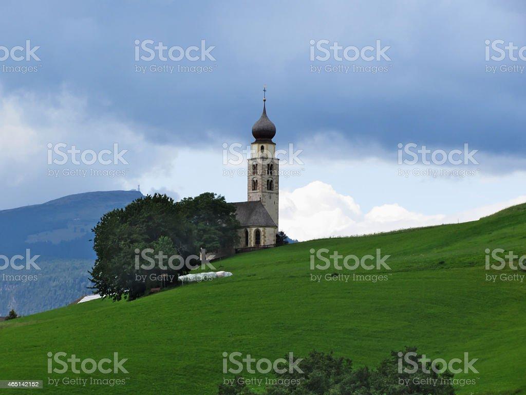 View of San Valentino church stock photo