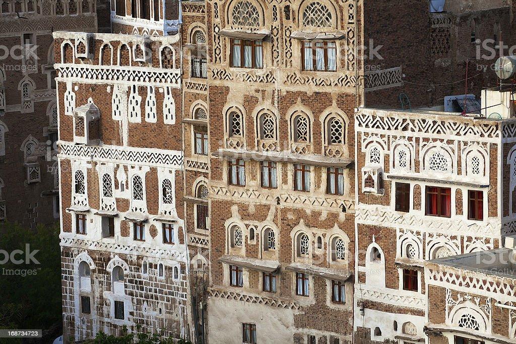 View of Sana, Yemen royalty-free stock photo