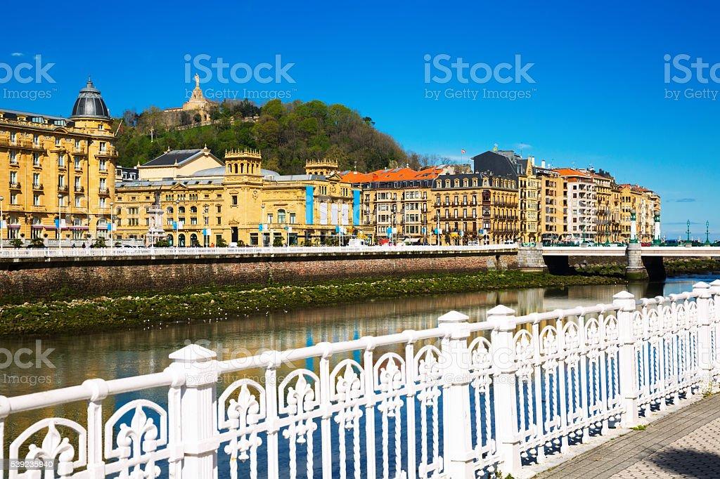 View of Sant Sebastian, Spain stock photo
