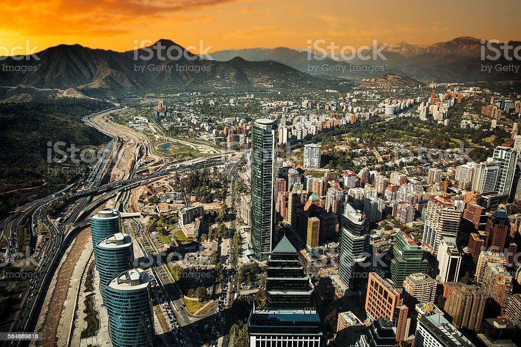 View of Santiago stock photo