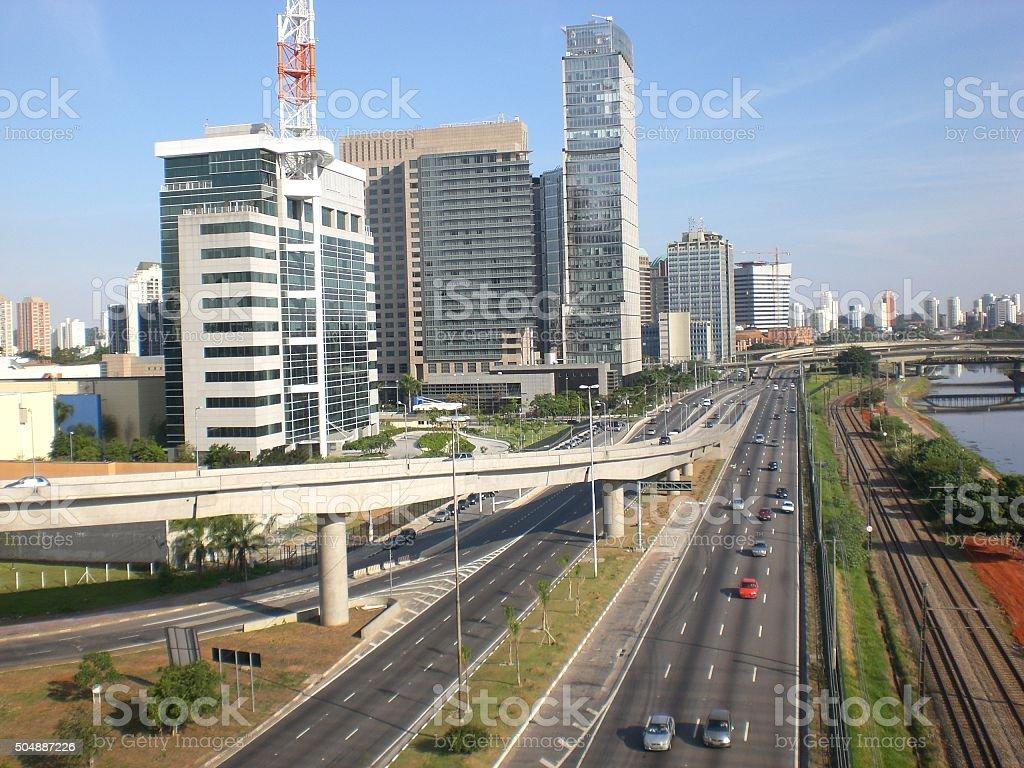 Vista de Sao Paulo, foto de stock libre de derechos