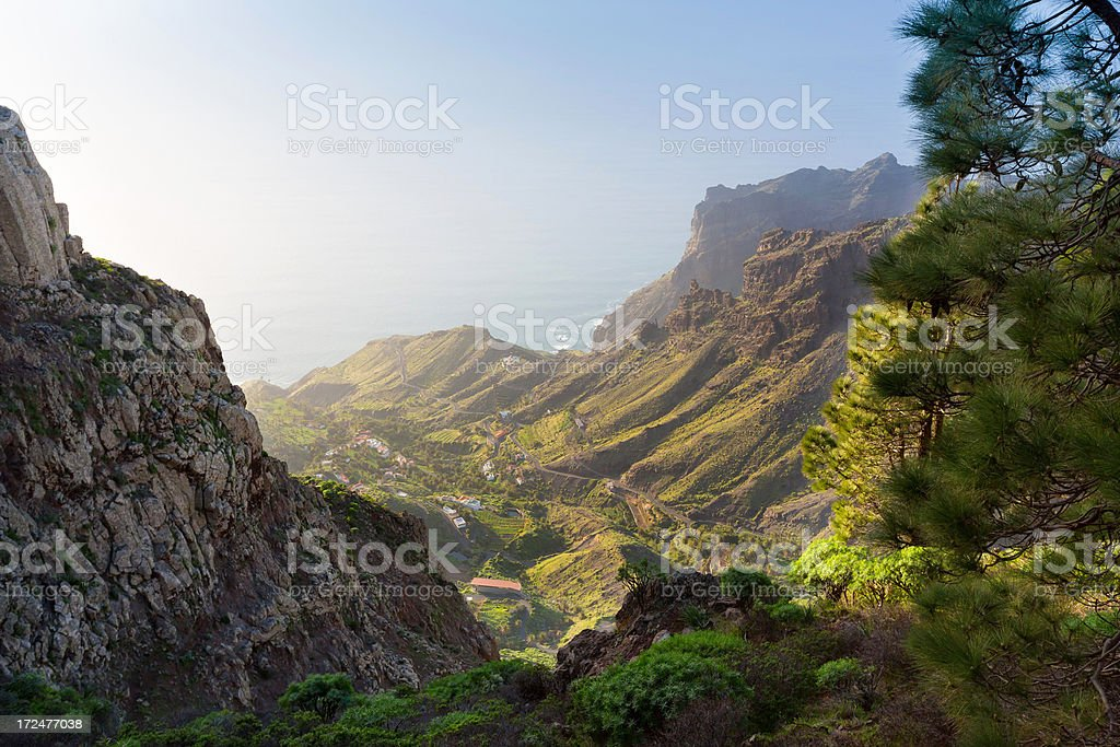 view of sea, mountains and valley royalty-free stock photo
