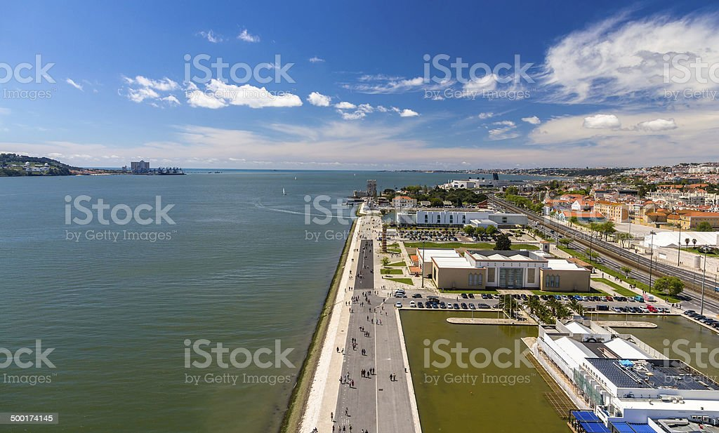 View of seafront in Lisbon, Portugal stock photo