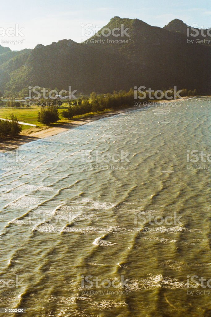 View of seaside in Hua Hin National Park stock photo