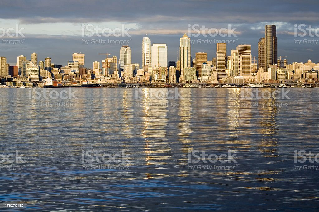 View of Seattle skyline royalty-free stock photo