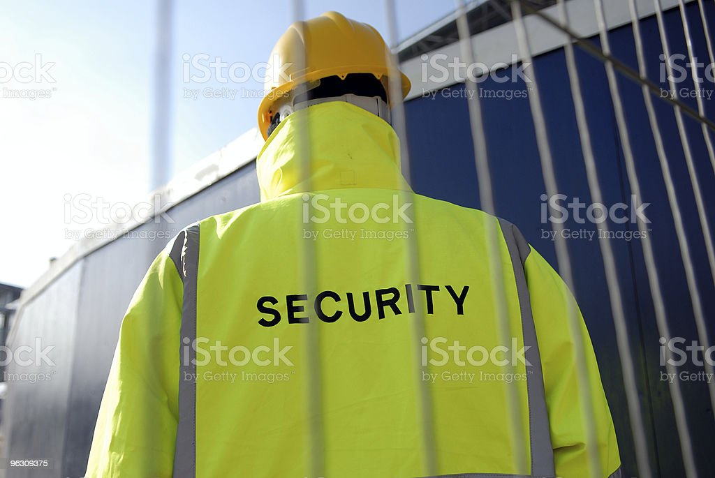 View of security man from behind  royalty-free stock photo