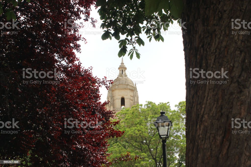 View of Segovia Cathedral stock photo