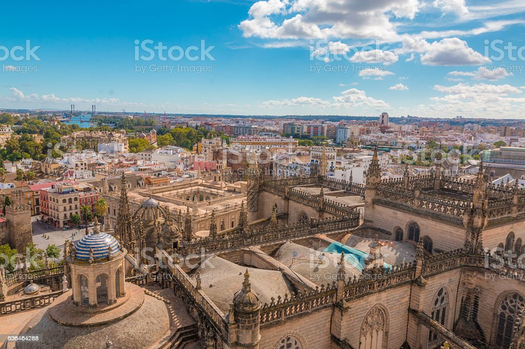 View of Seville city in Spain stock photo