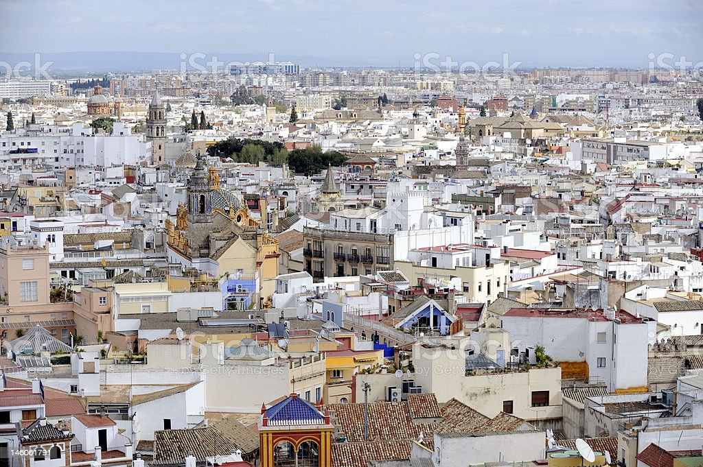 view of seville royalty-free stock photo