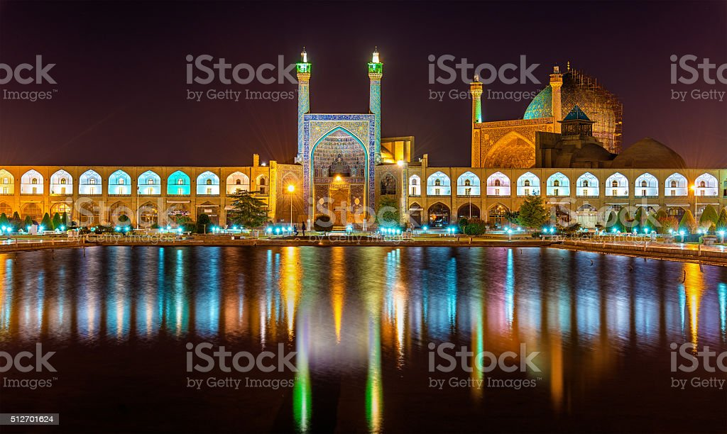 View of Shah (Imam) Mosque in Isfahan - Iran stock photo