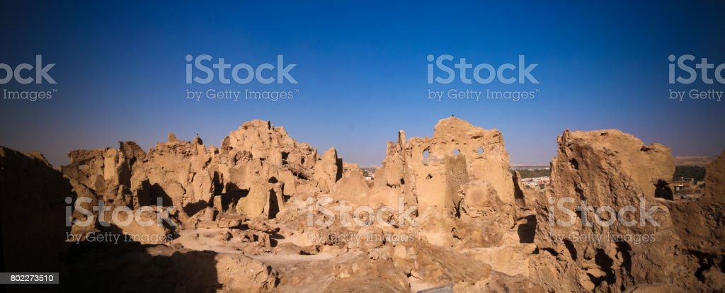 View of Shali old city ruins, Siwa oasis in Egypt stock photo