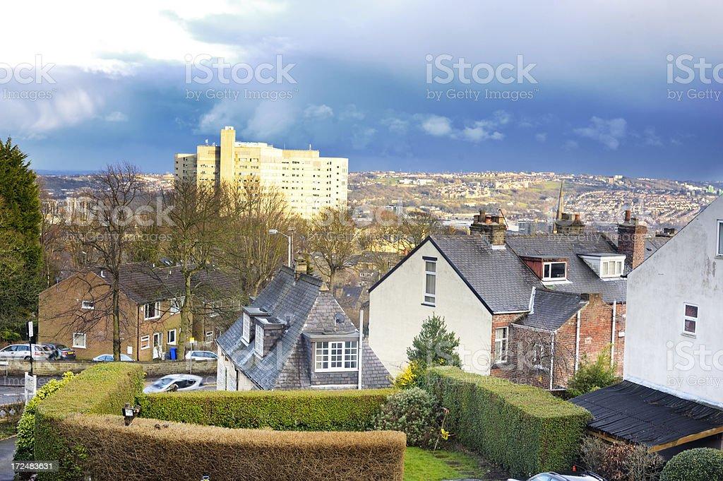 View of Sheffield City Centre, UK stock photo