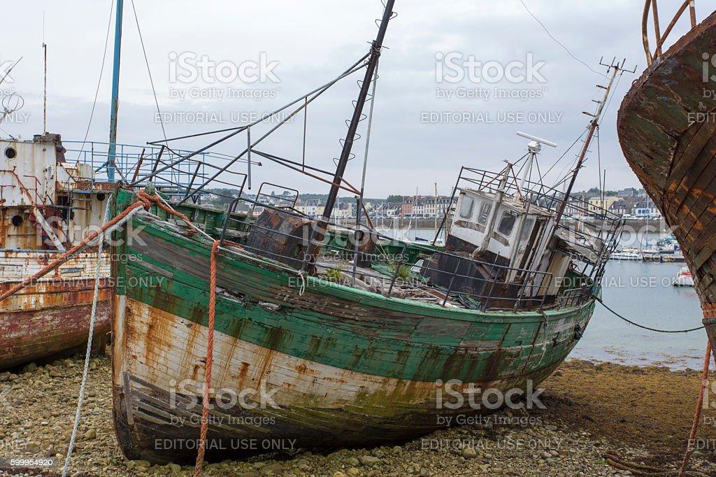 View of Shipwrecks, in Camaret-Sur-Mer stock photo
