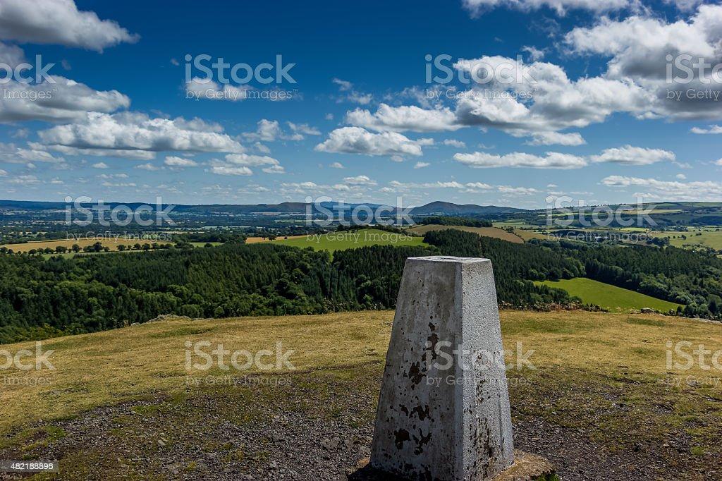view of shropshire. stock photo