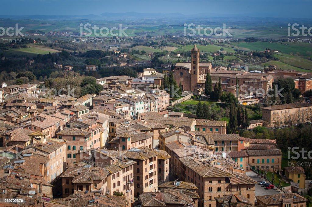 View of Siena, Tuscany, Italy stock photo