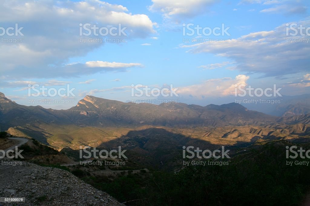 View of Sierra Gorda Queretaro Mexico stock photo