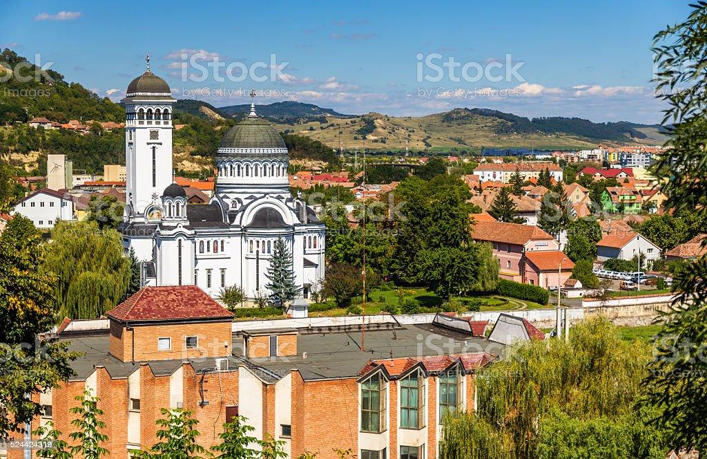 View of Sighisoara, a town in Transylvania, Romania stock photo