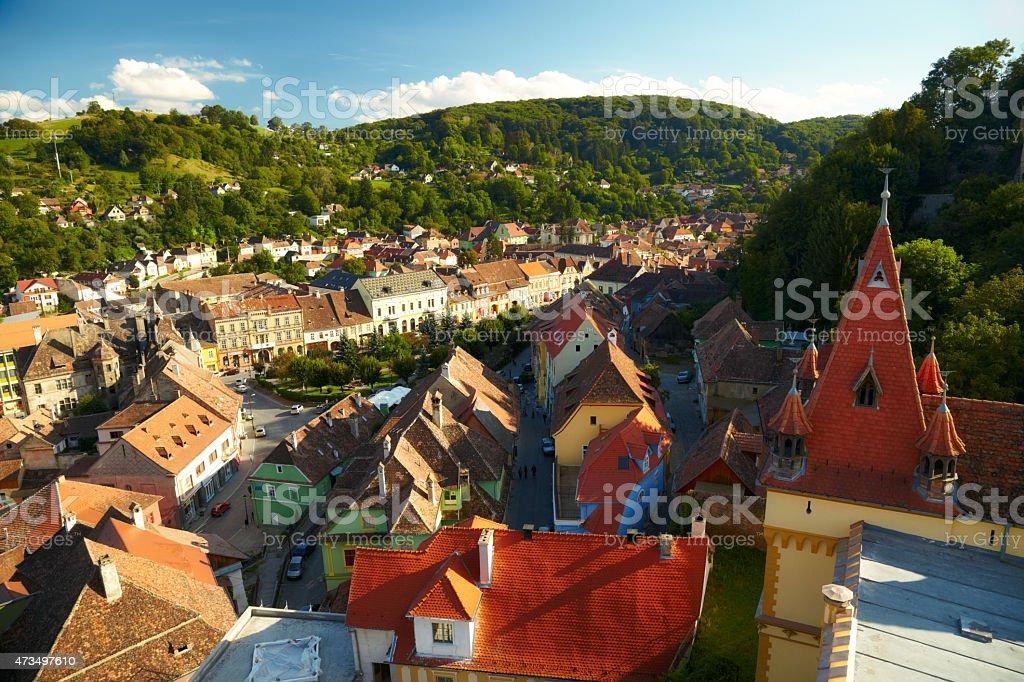 View of Sighisoara, Romania stock photo