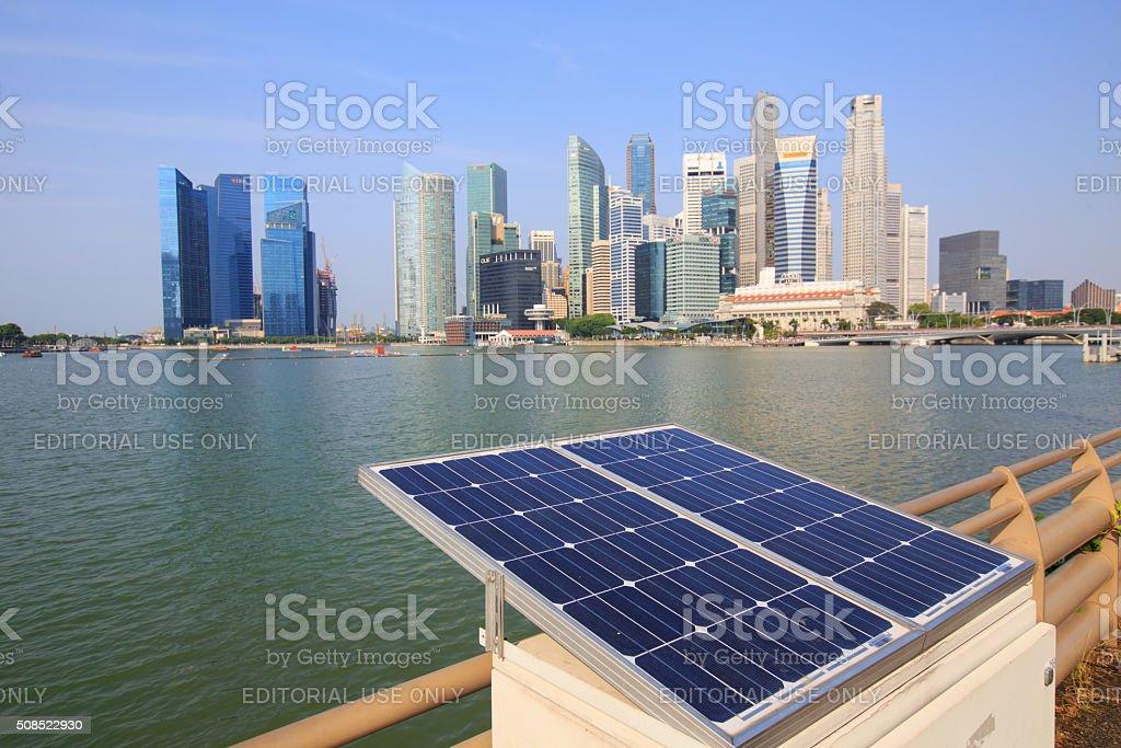 View of Singapore city, Merlion park at Marina Bay royalty-free stock photo