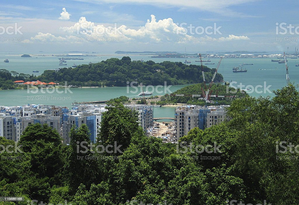 View of Singapore royalty-free stock photo