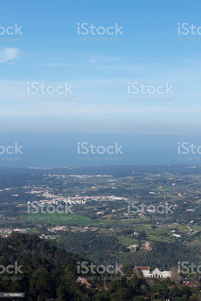 Vista di Sintra foto stock royalty-free