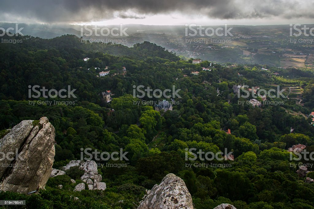View of Sintra stock photo