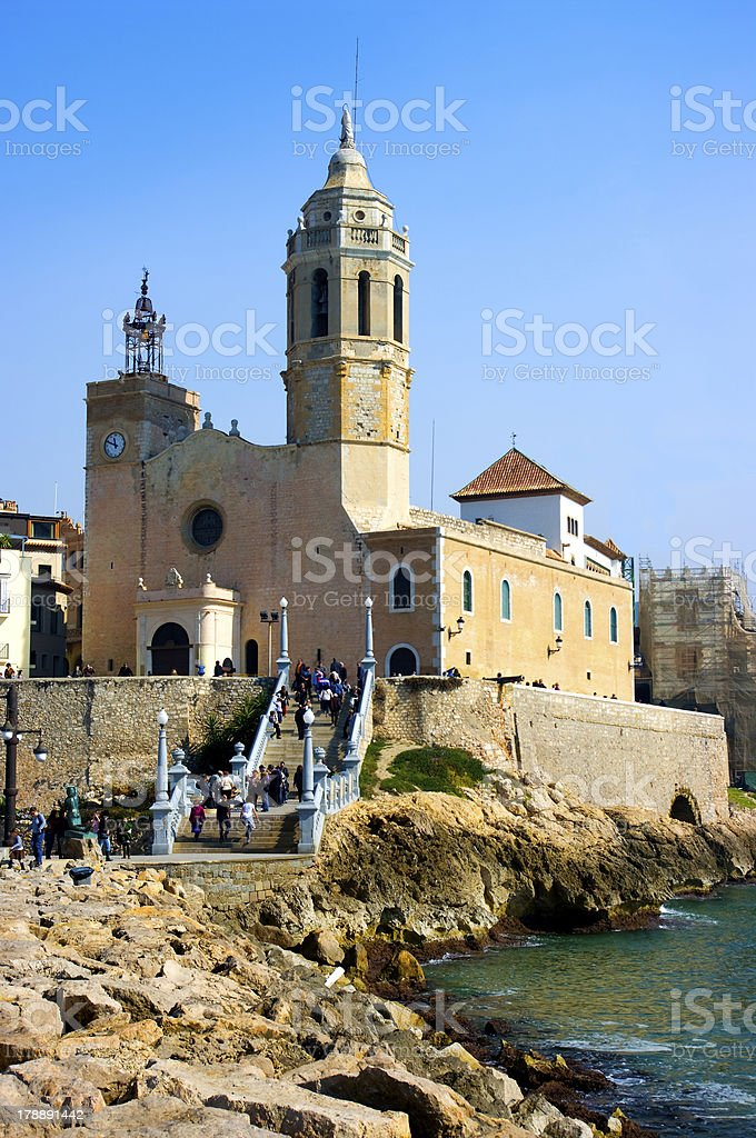 View of Sitges.Catalonia.Spain stock photo