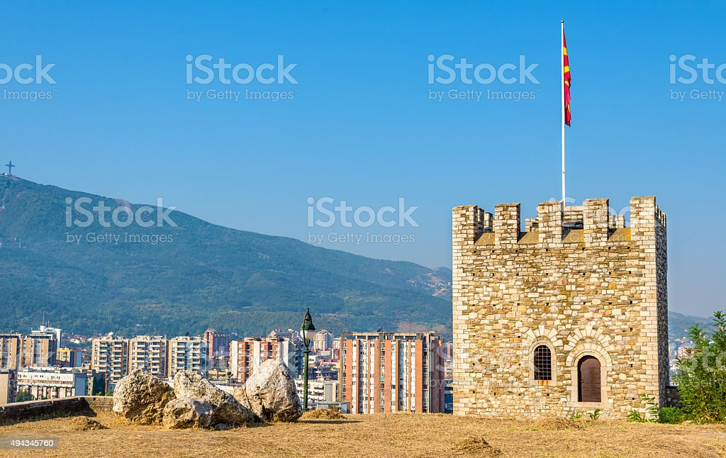 View of Skopje from the fortress - Macedonia stock photo