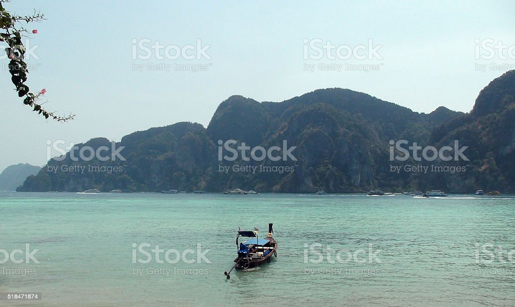 View Of Sky And  Boats On Phi Phi Island Phuket.Thailand stock photo