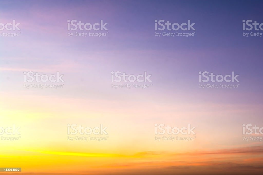 view of sky with clouds in the evening stock photo