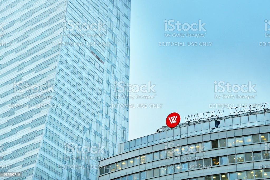 View of skyscrapers stock photo