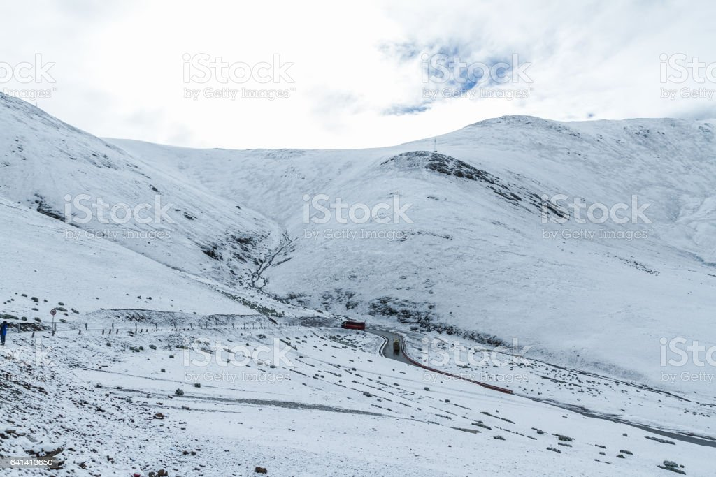 view of snow mountain, Tibet stock photo