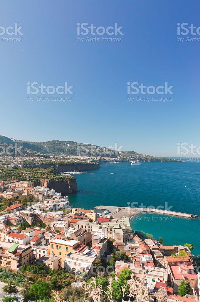 view of Sorrento royalty-free stock photo