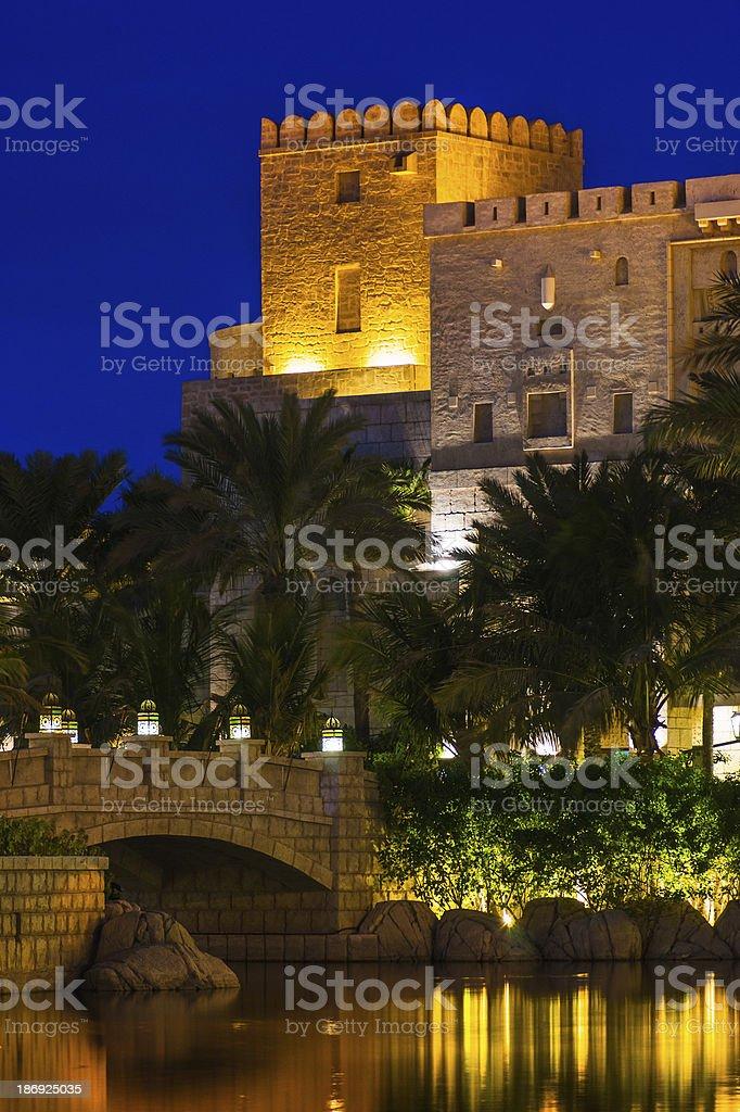 DUBAI, UAE - NOVEMBER 15: View of Souk Madinat Jumeirah stock photo