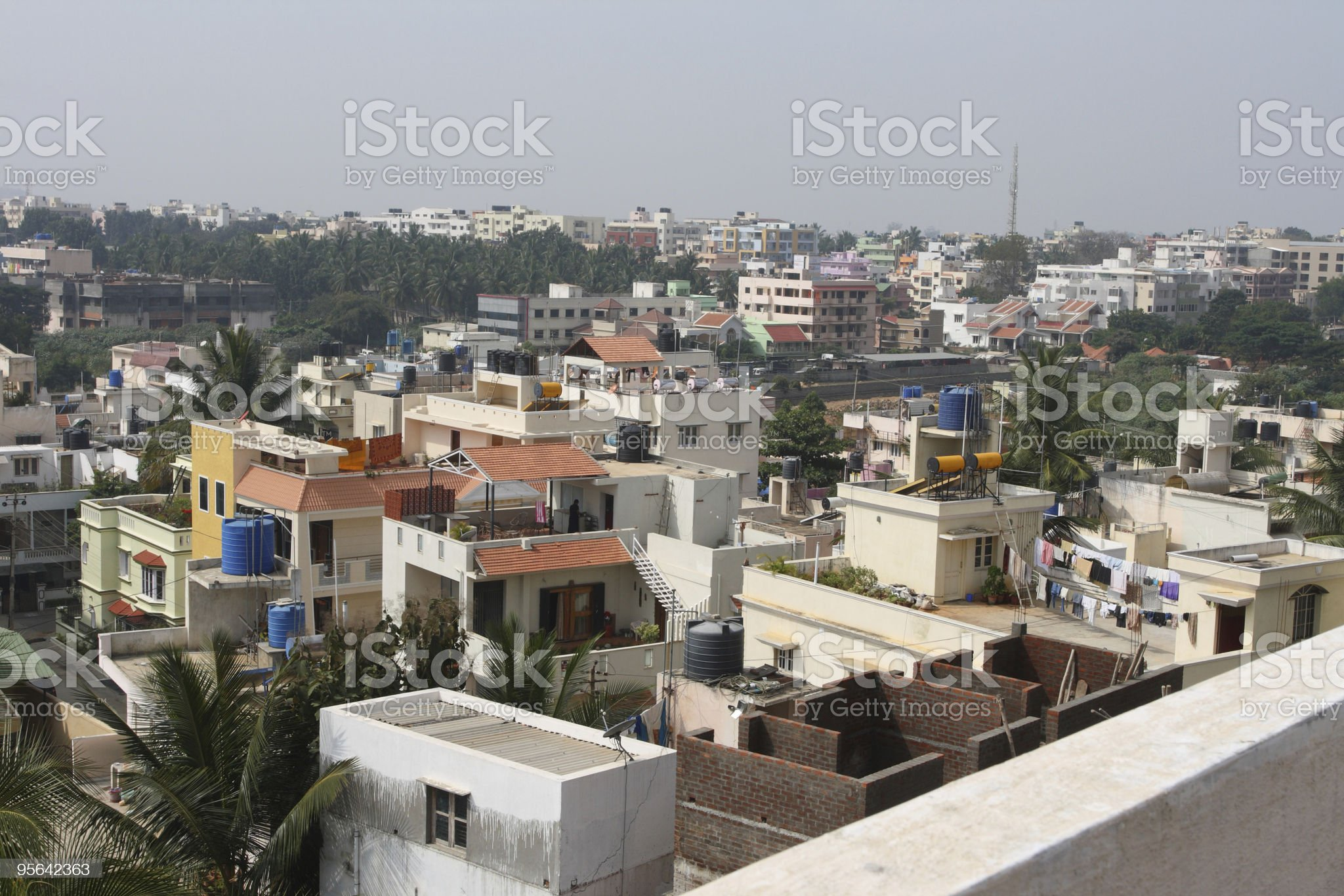 View of southern Bangalore, India royalty-free stock photo