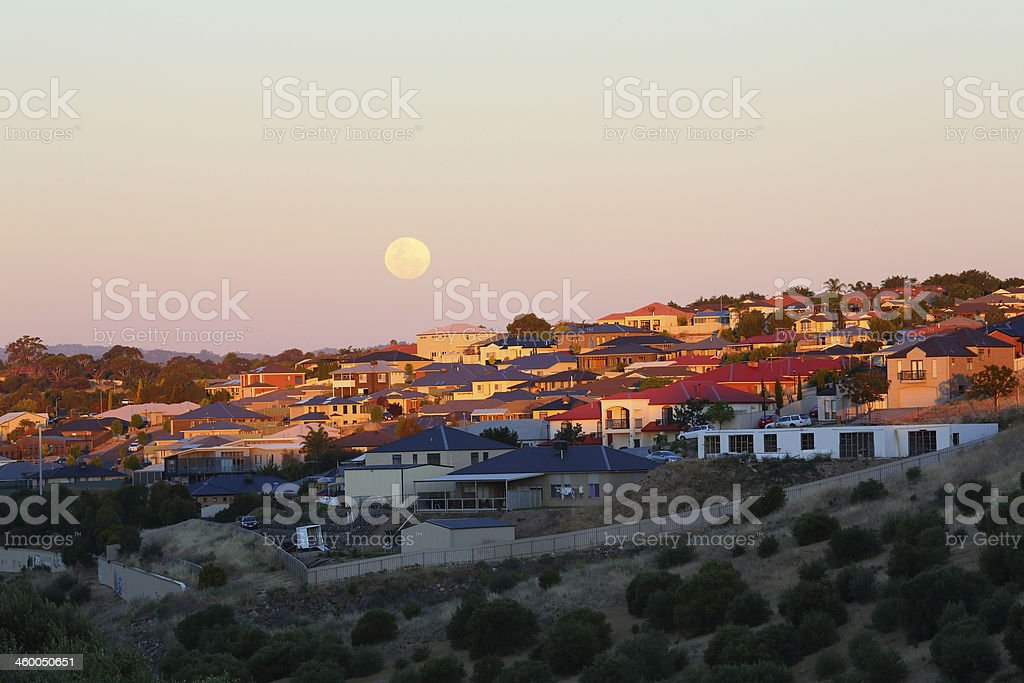 View of southern suburbs in Adelaide stock photo