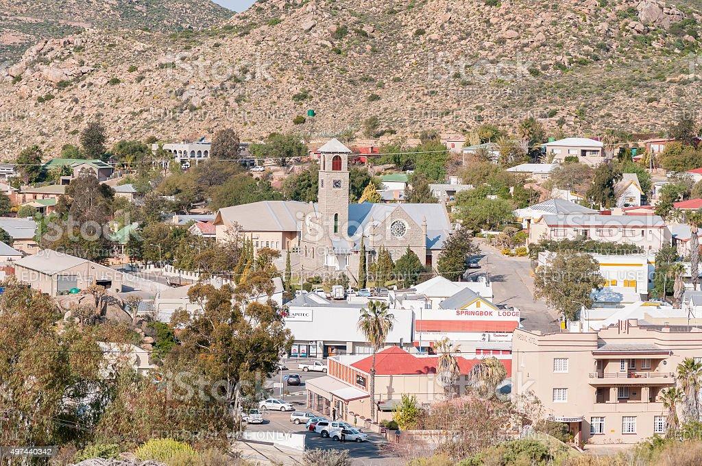 View of  Springbok stock photo