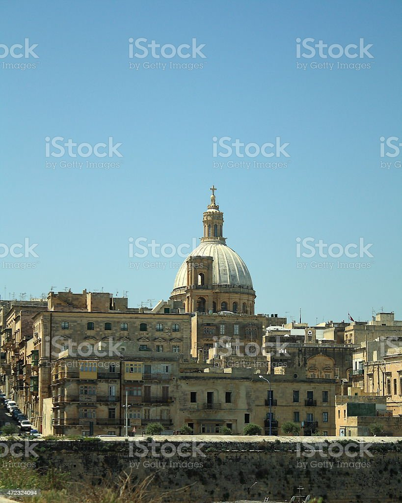 View of St John's Cathedral, Valletta, Malta stock photo