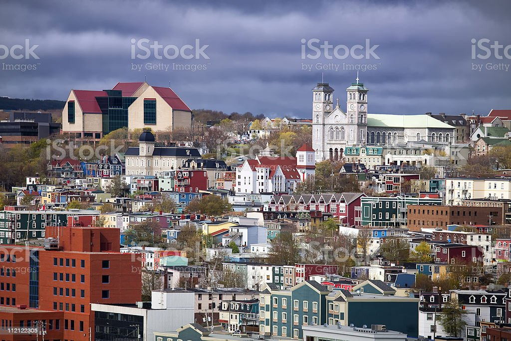 A view of St Johns, Newfoundland stock photo
