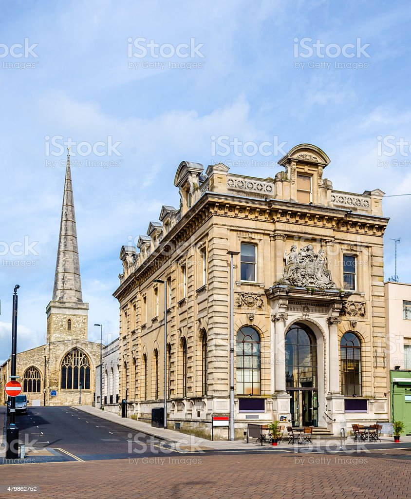 View of St Michael's Church in Southampton, England stock photo