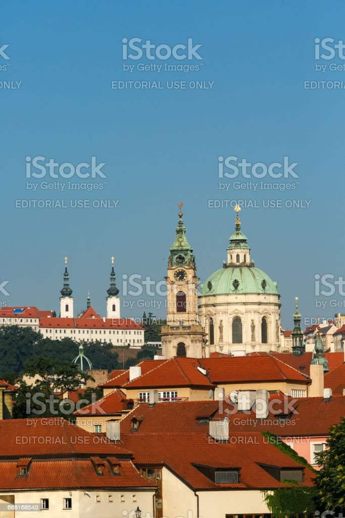 View of St Nicholas's Church and The Loretto stock photo