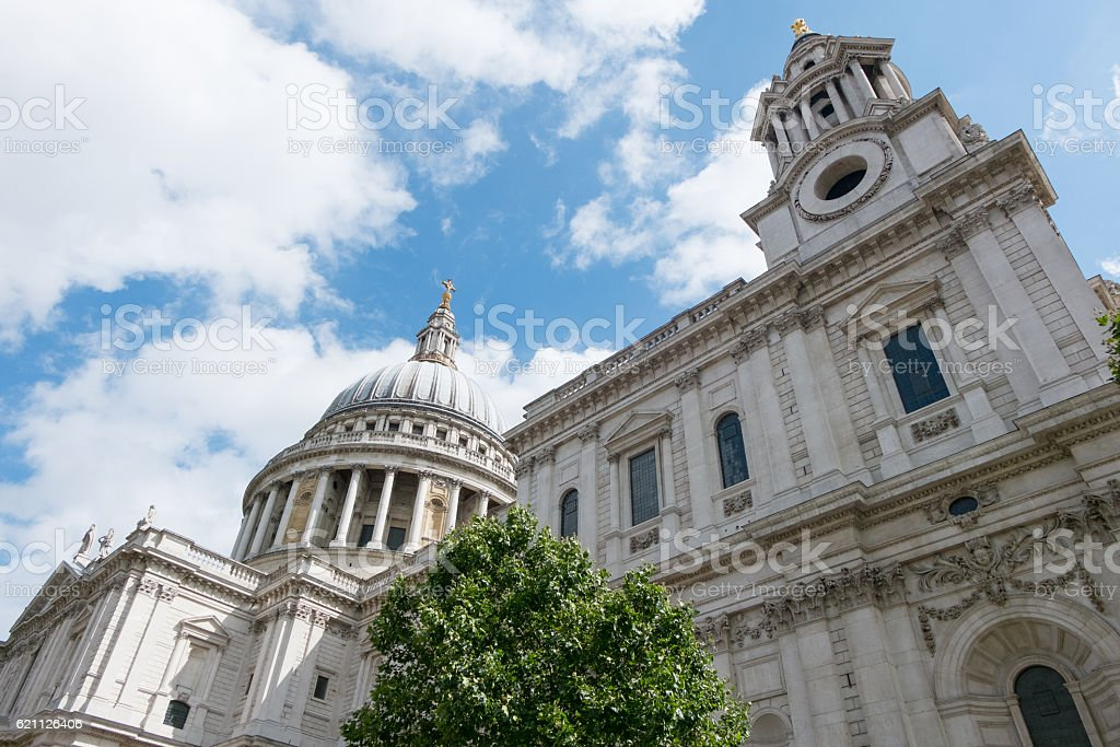 View of St. Paul's Cathedral stock photo