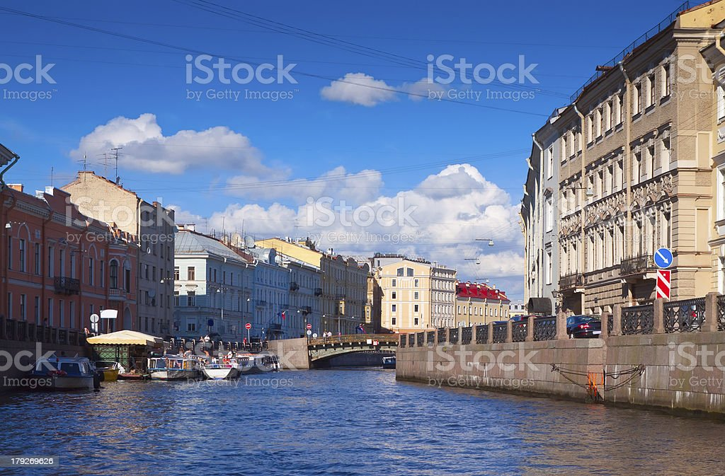 View of St. Petersburg. Moyka River stock photo