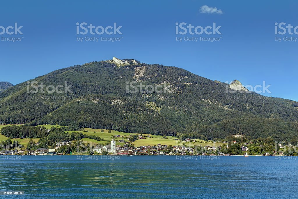 view of St. Wolfgang, Austria stock photo