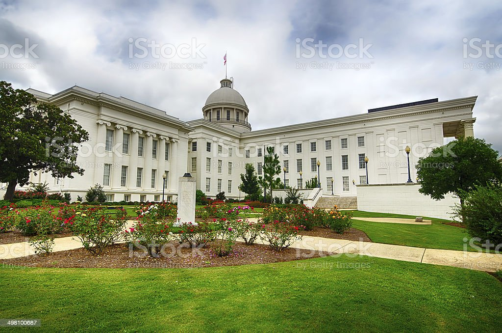 View of state capitol in Montgomery, Alabama stock photo